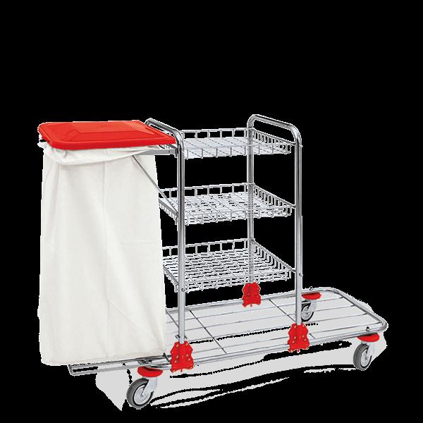 Zimmermädchenwagen S aus Chrom
