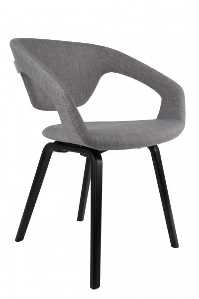 Flexback Stuhl schwarz grau